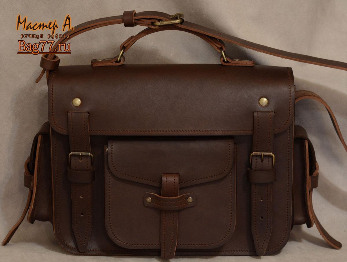 Кожаный портфель своими руками фото