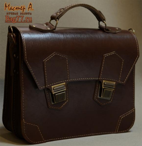 Я шью кожаные мужские портфели, барсетки и сумки.Шью вручную из кожи КРС (крупного рогатого